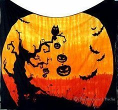 Halloween wall décor is especially twisted, creepy and spooky for Halloween 2017. In fact you can marvel at ghostly Halloween Wall decorations ranging from creepy skulls, Silly pumpkins, sleek black cats, frightening monsters and other creepy frights. Great Halloween Holiday wall décor makes Halloween wicked cool.   Indian Mandala Tapestries Hippie Hippy Wall Hanging,Halloween Pumpkin Tapestry Bohemian Decor Bedding Bedspread,