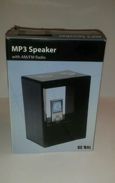 Global MP3 Speaker With Blue Accent Light & AM/FM Radio Included - http://electronics.goshoppins.com/portable-audio-headphones/global-mp3-speaker-with-blue-accent-light-amfm-radio-included-2/