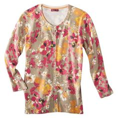 Merona® Petites 3/4-Sleeve Cardigan Sweater- Assorted Prints