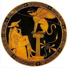 Civilización griega Edipo interrogado por la Esfinge