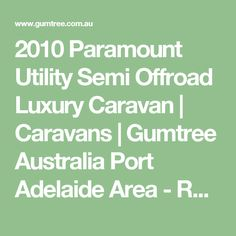CHRISTMAS Paramount Utility Caravan Based on the paramount studio, of internal luxury leather appoinments Queen island bed, loads of . Luxury Caravans, Caravans For Sale, Regency, Offroad, Park, Touring Caravans For Sale, Parks, Off Road