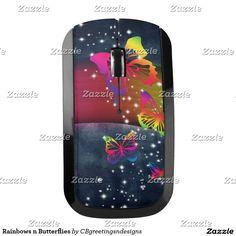 Rainbows n Butterflies Wireless Mouse
