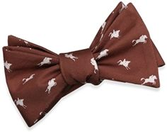 """A simple yet elegant twist on the southern polka dot tie in great fall colors. A perfect gift for all your hunter jumper enthusiasts.Our bows are adjustable from 15"""" to 19.5"""" and have a width of 2.5"""". All bows are to-tie, not pre-tied. 100% silk, handprinted, and handmade."""