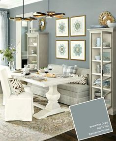 Benjamin Moore's Brewster Gray from the Ballard Designs catalog