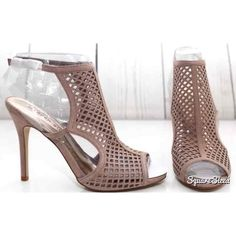 Madden Girl Sz 9M Taupe/Nude Caged Heels - Mercari: Anyone can buy & sell