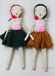 | Jess Brown Rag Dolls at www.perfectlysmitten.com |