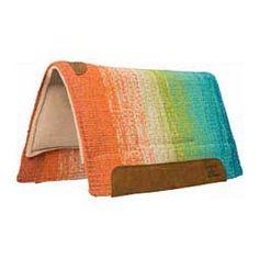 Memory Foam Saddle Pad Orange/Blue - Item # 32914