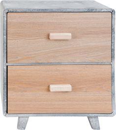Kastje 38x24x43 cm - grijs - hout - Clayre & Eef €51