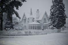 "floraison: "" (by Matthew Cornwell) "" Snow Scenes, Winter Scenes, Art Nouveau, Victorian Architecture, Amazing Architecture, Parcs, Le Moulin, Favim, My Dream Home"