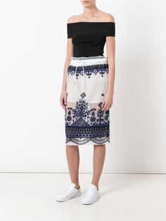 Sacai sheer overlay skirt