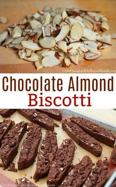 Chocolate Almond Biscotti - One Hundred Dollars a Month Chocolate Almond Biscotti - One Hundred Dollars a Month Vivian Reasnor joenviv Dessert recipes Chocolate Almond Biscotti - One Hundred Dollars a Month Vivian Reasnor Chocolate Almond Biscotti Almond Biscotti Recipe Italian, Chocolate Almond Biscotti Recipe, Chocolate Recipes, Chocolate Cookies, Almond Chocolate, Almond Cookies, Chocolate Chips, White Chocolate, Gourmet
