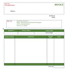 Simple Consulting Invoice Template Excel And Word Templates Words