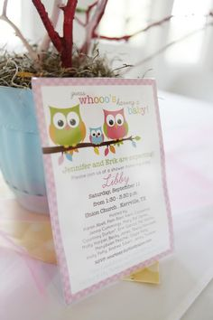 """Babies are a Hoot"" Baby Shower Photobucket"