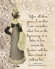 Regency Fashion Fine Art  Photographic Print with Mark Twain Quote CIJ