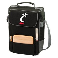 Picnic Time Collegiate Duet Wine and Cheese Tote Black - 623-04-175-662-0