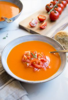 Food To Go, Food And Drink, Gazpacho Recept, My Favorite Food, Favorite Recipes, Pumpkin Recipes, Food Inspiration, Bbq, Curry