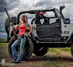 19 Girls Just Cant Help Them Selves on Truck. Check Them Out These Girls Love Diesel Trucks. Read more.These Girls Love Diesel Trucks. Read more. Jeep 4x4, Jeep Truck, Trucks And Girls, Car Girls, Jeep Wrangler Girl, Jeep Wranglers, Jeep Baby, Jeep Photos, Badass Jeep