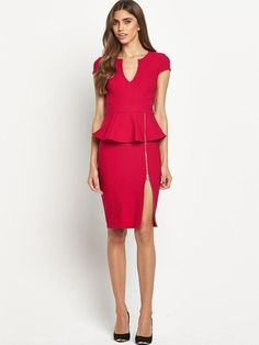 Lipsy Zip Detail Peplum Dress on shopstyle.co.uk
