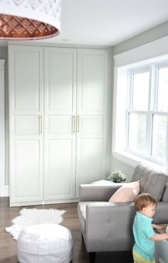 The IKEA Pax Hack. How to customize your Pax wardrobe and make it look built in. Including the best primer and paint for IKEA furniture! Ikea Wardrobe Hack, Ikea Closet Hack, Ikea Pax Hack, Closet Hacks, Bedroom Wardrobe, Built In Wardrobe, Perfect Wardrobe, Ikea Hacks, Ikea Ikea