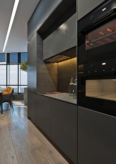 Dramatic interior of a charismatic bachelor on Behance Home Fashion, Cozy House, Beautiful Homes, Condo, Sweet Home, House Design, Contemporary, Architecture, House Styles