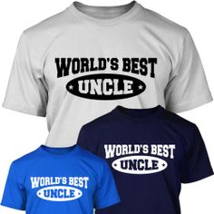 THE WORLD'S BEST UNCLE - Mens T SHIRT - Birthday Christmas Gift
