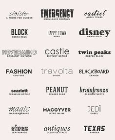 getting down with the big bang • lmnpnch: Favourite fonts (a resource list): a...