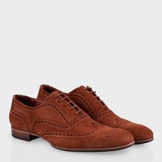 Paul Smith Shoes - Rust Suede Miller Brogues