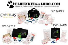 Hola amig@os. En Elbunkerdellobo.com cuentas con una amplia gama de botiquines para incorporar a vuestro equipo.  Entre ellos los de la marca americana Camillus.