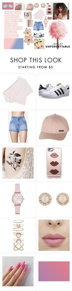 """+ Fade Away +"" by arcticgorillaz ❤ liked on Polyvore featuring Rosie Assoulin, adidas Originals, Kendall + Kylie, Billabong, Casetify, Emporio Armani, Kate Spade, Accessorize, Tiffany & Co. and shadesofyou"