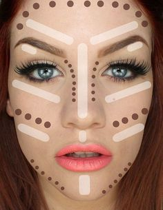 Contouring Tutorial: How To Make Face Look Slimmer. Best tips on how to achieve perfect looking foundation. Makeup Tricks and Beauty Ideas.   Makeup Tutorials http://makeuptutorials.com/5-tutorials-teach-make-face-look-thinner/