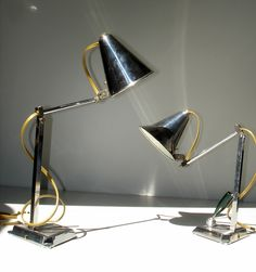 Art Deco Bauhaus table wall lamps PIROUETT. France, 1930's.