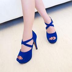 Women's Peep Toe Stiletto Heel Fashion Sandals Shoes More Colors available – AUD $ 35.74