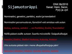 Learn Finnish, Finnish Language, Bingo, Opi, Classroom, Teacher, Education, Learning, School