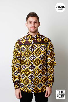 TILED YELLOW Rich brown basewith a vibrant yellow andwhite pattern. ... click for more information