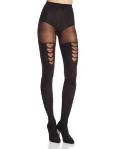 910b20fb95c Pretty Polly Heart Faux Stay-Up Tights Tight Leggings