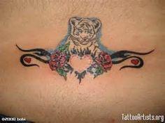 Nurturing White Tiger Tattoo