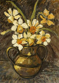❀ Blooming Brushwork ❀ garden and still life flower paintings - Osterglocken in einer Vase, 1910, Louis Valtat. French (1869 - 1952)