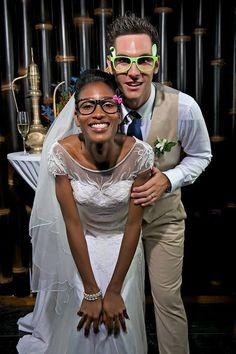 Lovely glasses… Cute interracial wedding couple… Congrats and bless them… BTW,Happy weekend,friends… Blackwomenforwhitemen.org~~~where we specialize in interracial dating services.It's OK to color outside the lines.Hope you will like it.