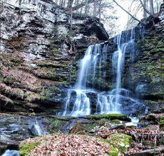 PA Waterfalls Road Trip.   3. Bowman Hollow Falls