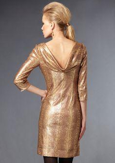 TAHARI ARTHUR S. LEVINE  Long Sleeve Sequin Detail Dress