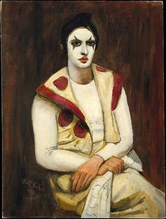 * Clown with a Black Wig, 1930 - Walt Kuhn (American, 1877–1949).
