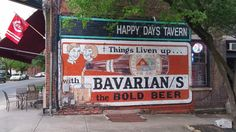 Bavarian's the Bold Beer ghost sign, Covington, Kentucky