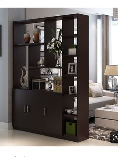 Interior Living Room Design Trends for 2019 - Interior Design Room Partition Wall, Room Divider Shelves, Living Room Partition Design, Living Room Divider, Room Partition Designs, Living Room Storage, Interior Design Living Room, Living Room Designs, Divider Cabinet