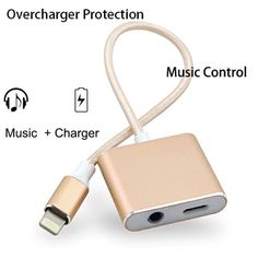 Overcharge Protection Lightning Adapter for iPhone 7,Fast Charger up to 5V/2A and 3.5mm Earphone Jack Cable Adaptor with Music Control for iPhone 7 7 Plus -- Awesome products selected by Anna Churchill