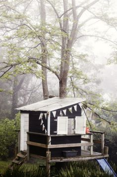 The homeowners - Jane and Michael Frosh built a tree house that doubles as a pirate ship. Photograph by Sharyn Cairns.