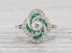 .35 Carat Art Deco Vintage Engagement Ring    Erstwhile