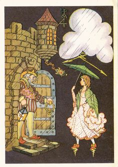 "Postcard Illustration by Antokolsky -- Hans Christian Andersen ""The Princess and the Pea"" - 1974"