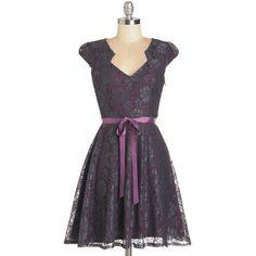 ModCloth Short Length Cap Sleeves A-line Sweet Staple Dress