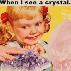 Me in a crystal shop