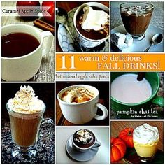 11 Warm And Delicious Fall Drink Recipes. Beverages to go along with my favorite time of the year. :)